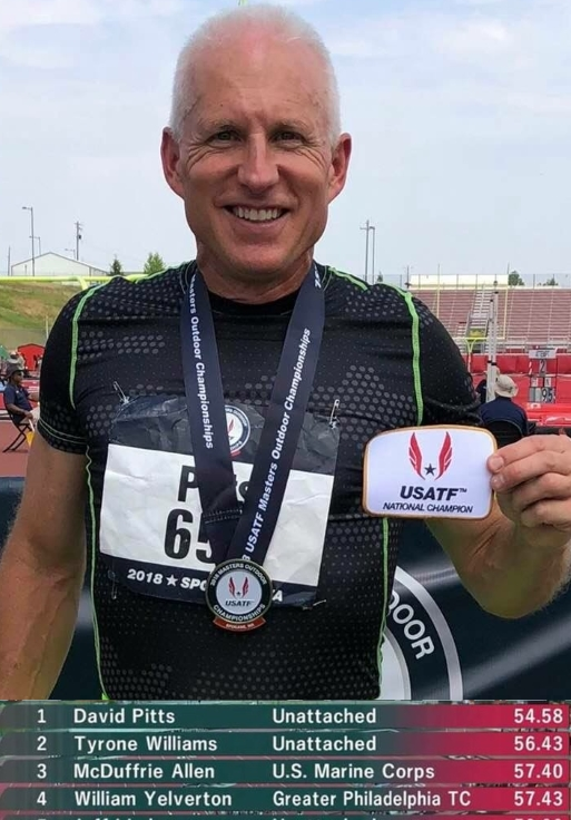 2018 USATF Masters Outdoor M55 400m Champion