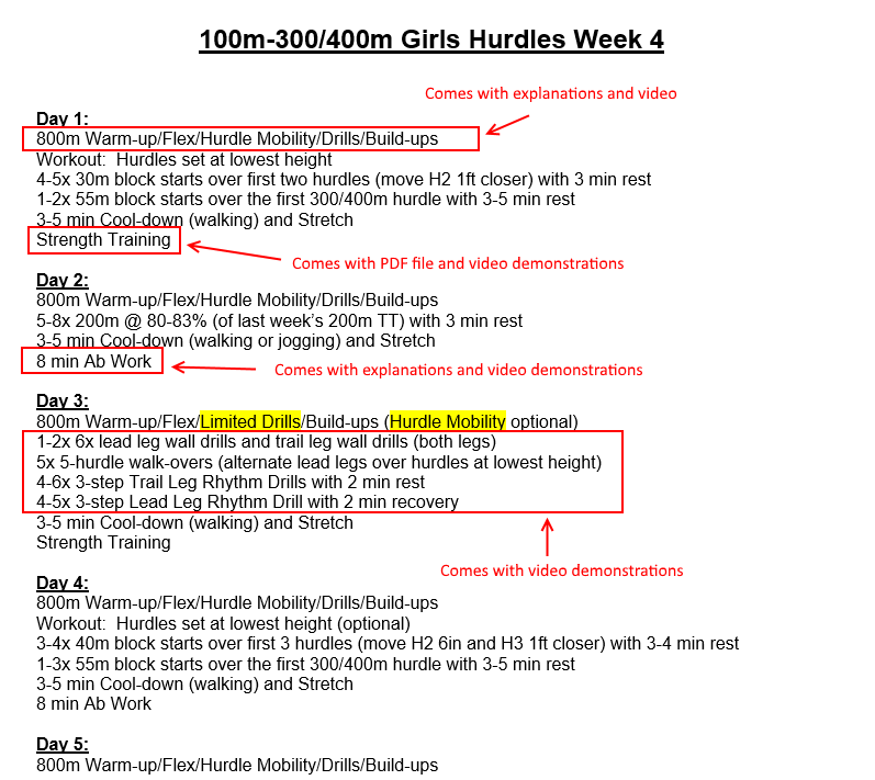 Girls Hurdle Training Program Screen Shot