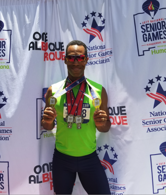 Norris Hanes 2019 National Senior Games Medals